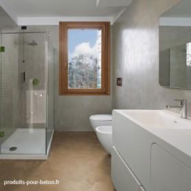 Béton ciré salle de bain Sahara