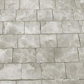 Kit béton empreinte dalle gris ciment pavés