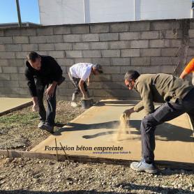 formation pour béton empreinte 1 jour produits pour beton