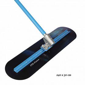 Lisseuse ACIER bleu pour sol béton avec Rock-it - 240 x 30 cm