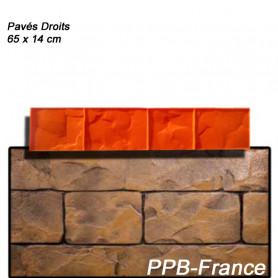 Moule pour béton imprimé - modèle Pavés droits.