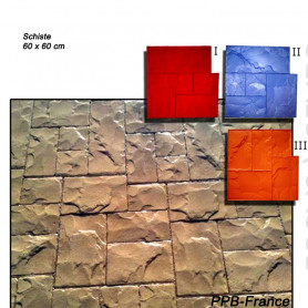 Rendu moule de marquage pour béton empreinte modèle Schiste.