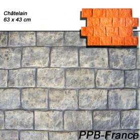 Mmoules de marquage pour béton empreinte modèle Châtelaine.
