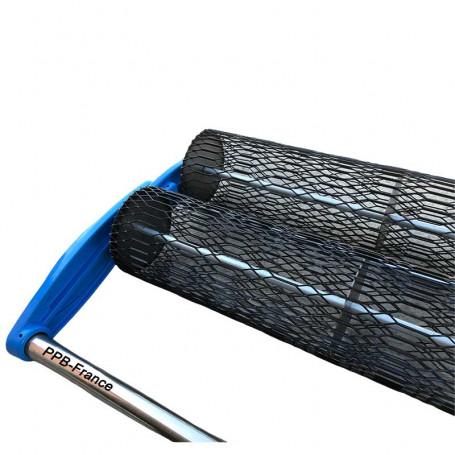 Rouleaux béton pour faciliter la remonter de laitance en surface