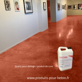 Quartz dallage plus produit de cure couleur chamois