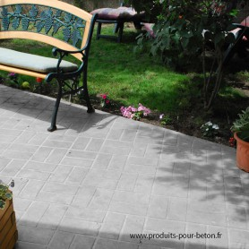 Sol en béton décoratif naturel - gris ciment.