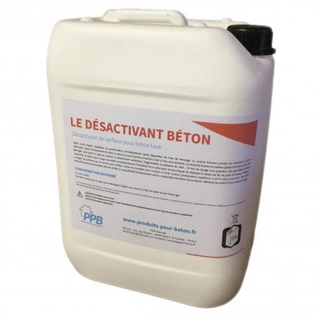 Désactivant de surface, prêt à l'emploi, pour béton lavé. Granulats de 6 à 15 mm - profondeur de désactivation 2/4 mm