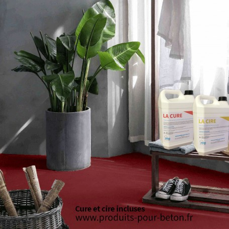kit b ton cir sur dalle b ton pleine masse rouge. Black Bedroom Furniture Sets. Home Design Ideas