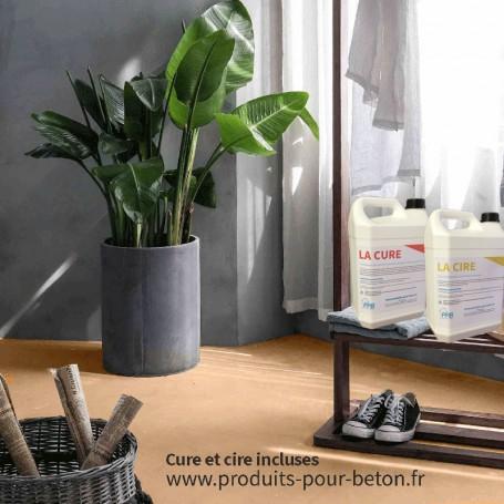 Kit b ton cir sur dalle b ton pleine masse beige - Produit pour dalle beton ...
