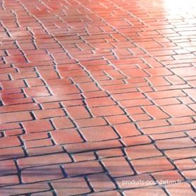 Pochoir pour béton matrice DP24 marron