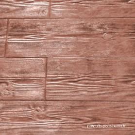moules pour béton empreinte modèle bois deux planches- marron