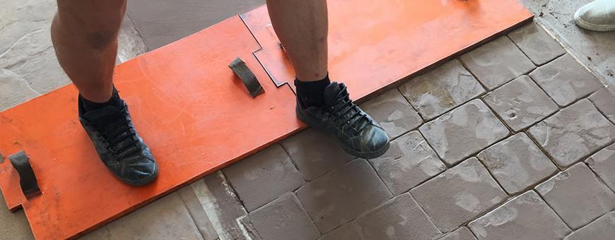 Moules empreinte béton, kit complet adapté à votre surface