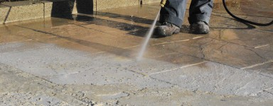 Produits de nettoyage et de rénovation pour dalle béton et chapes.